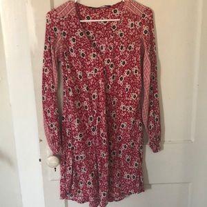 Zara printed tunic dress